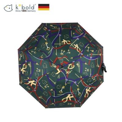 德國kobold酷波德 抗UV矽膠頭系列-8K超輕巧-遮陽防曬五折傘-墨綠