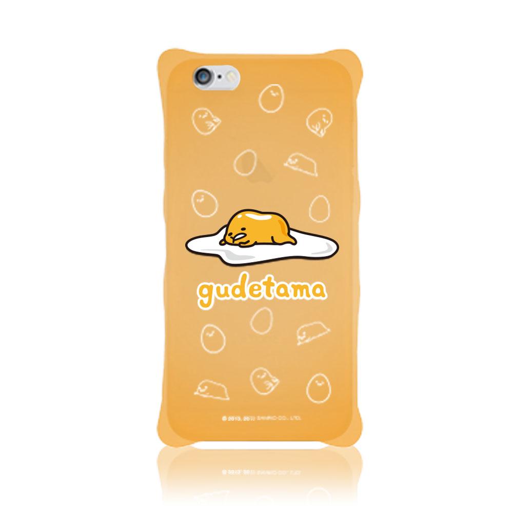 三麗鷗原廠 iphone 6 plus / 6s plus gudetama蛋黃哥防震矽膠手機殼