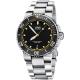 Oris豪利時 Aquis 時間之海300米潛水機械錶-黑x黃圈/43mm product thumbnail 1