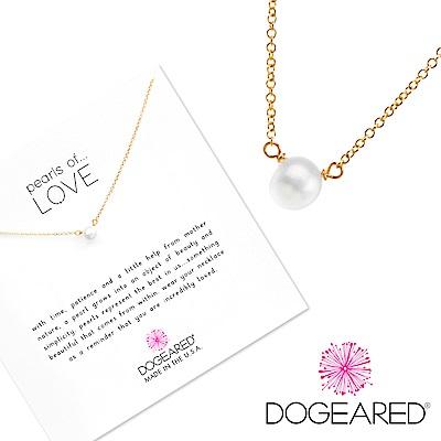 Dogeared 小白珍珠 金色項鍊 Pearl Necklace 附原廠禮盒