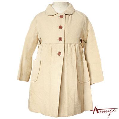 Anny經典素雅單排釦收腰雙口袋大衣*9278米白