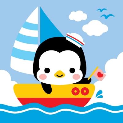 LOVIN 超萌韓版數字油畫 可愛企鵝(1) 1幅