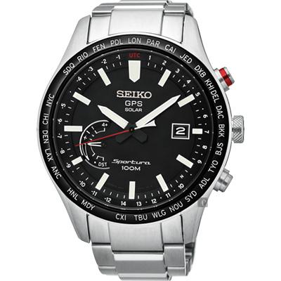 SEIKO精工Sportura GPS衛星定位太陽能腕錶(SSF003J1)-45mm