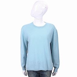 ALLUDE 喀什米爾天藍純色極簡針織羊毛衫
