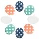 足的美形 彩點系列-布面矽膠圓點貼(4包) product thumbnail 1