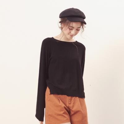 CACO-拼接剪裁針織上衣(五色)-女【NCH287】