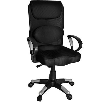 【凱堡】海克斯立體坐墊護腰辦公椅/電腦椅(搭配銀段扶手/椅腳)