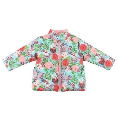 愛的世界 牡丹金魚舖棉兩面穿長袖外套/2~4歲