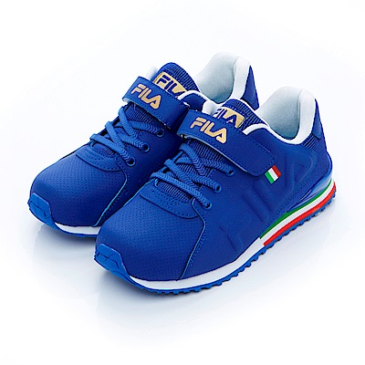 FILA KIDS大童EVA經典慢跑鞋-藍3-J410S-329