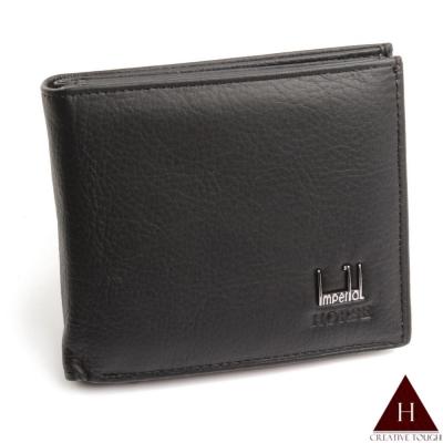 【H-CT】HORSE系列穩重黑多鈔票層設計真皮短夾(SH090-S01-Z)