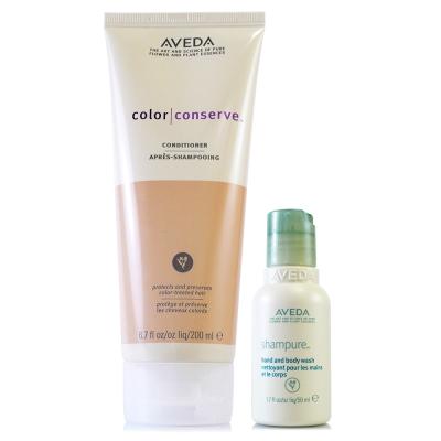AVEDA 護色潤髮乳200ml+沐浴乳50ml(隨機出貨)特惠組
