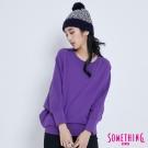SOMETHING 不對襯連袖T恤-女-紫色