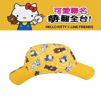 Hello Kitty ╳ LINE 可愛熊抱式 腰靠墊 護腰墊