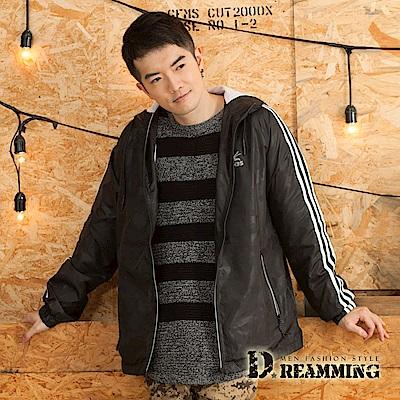 Dreamming 戶外輕量透氣網布休閒連帽運動風衣外套-黑色