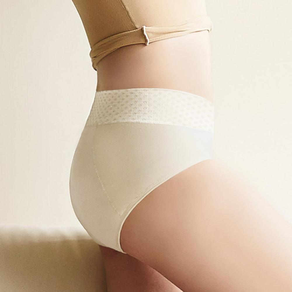 曼黛瑪璉-2014AW高腰寬邊三角夜間生理褲M-XXL(凝脂膚)