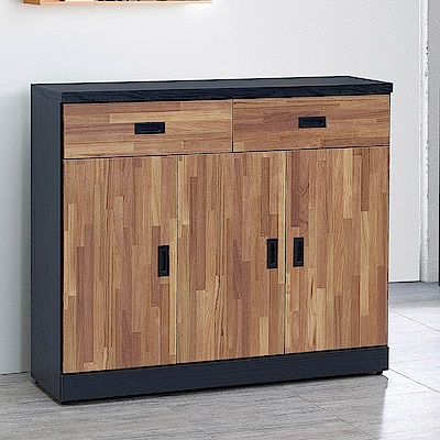 H&D 雙色集層木4尺鞋櫃 (寬120X深40X高106cm)