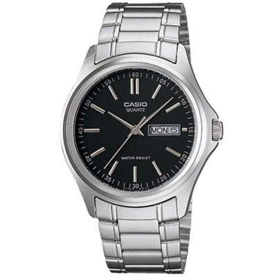 CASIO 經典簡約復古時尚日曆星期腕錶(MTP-1239D-1A)-黑/40mm