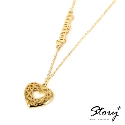 STORY ACCESSORY-鑽石切割系列-心鑽項鍊(8字內)