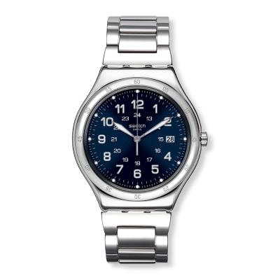 Swatch 金屬系列 BLUE BOAT 湛藍深海手錶