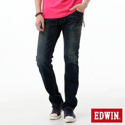 EDWIN-AB褲-麂皮拉鍊牛仔褲-男-中古藍