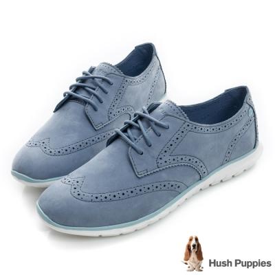 Hush Puppies ZULA 輕量雕花休閒鞋- 藍色