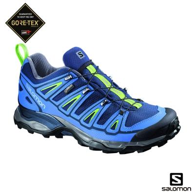 Salomon 登山鞋 低筒 GORETEX 防水 男 X ULTRA 2 藍