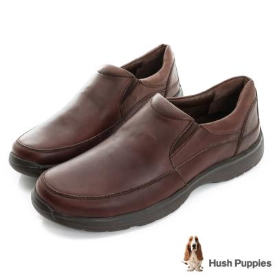 Hush Puppies ZeroG輕量大底直套式紳士便鞋-咖啡色
