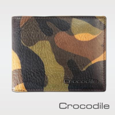 Crocodile 迷彩系列拉鍊雙鈔短夾 0103-08402-08