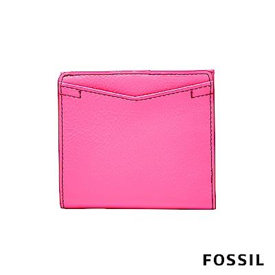 FOSSIL CAROLINE 真皮皮夾-螢光粉