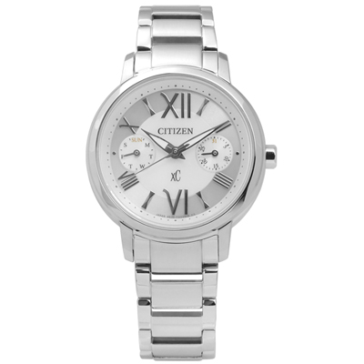 CITIZEN XC 清新時分羅馬光動能手錶(FD1090-54A)-銀/32mm