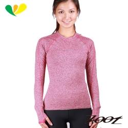 ZOOT頂級極致型輕肌能壓縮壓縮上衣(女)(雅灰/蜜紅)Z1504039-