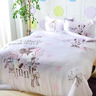 Saint Rose 米妮-紫 單人100%純天絲兩用被套床包三件組
