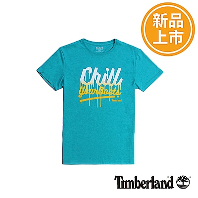 Timberland 男款藍綠色Kennebec River T恤