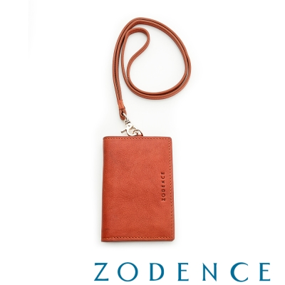 ZODENCE-義大利植鞣革系列名片證件套-紅
