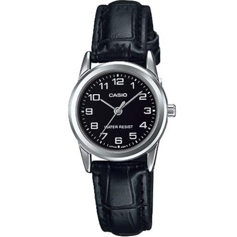 CASIO 經典復古時尚簡約巧小指針皮帶腕錶-黑面X黑(LTP-V001L-1)/25mm @ Y!購物
