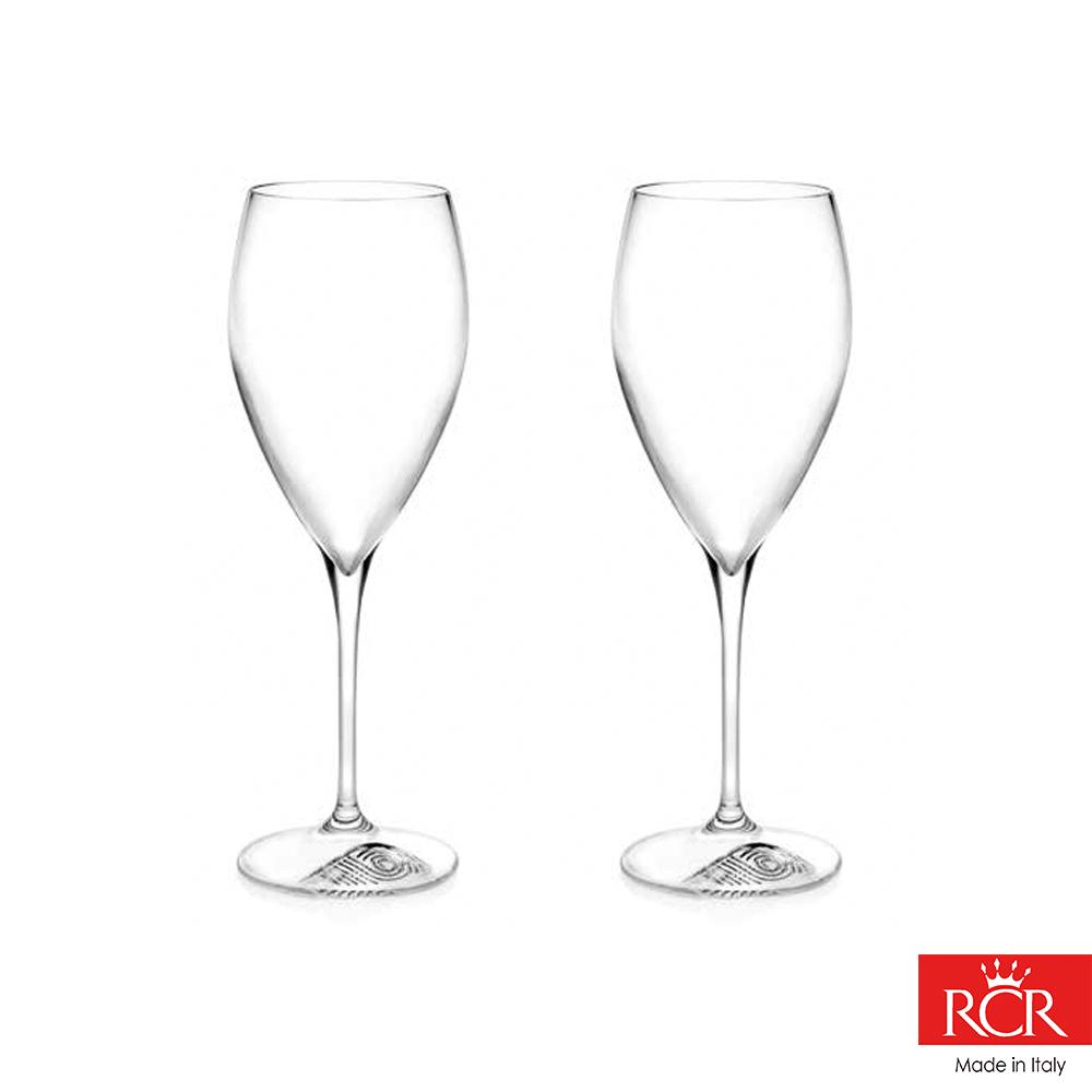 義大利RCR胡哥風情無鉛水晶白酒杯(2入)330cc