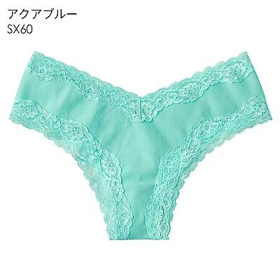 aimerfeel 淑女清爽肌棉質半臀內褲-水藍色