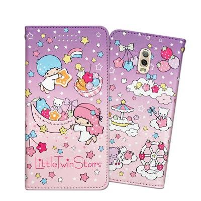 三麗鷗授權雙子星 Samsung Galaxy J7+ C710 甜心磁扣皮套(...