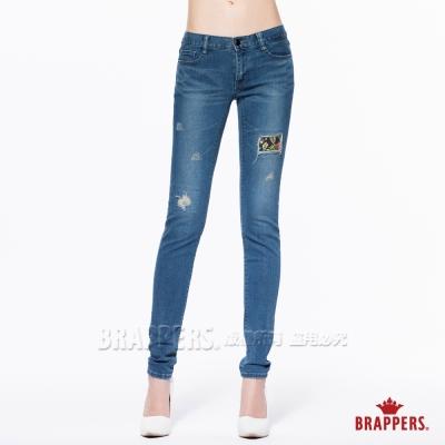 BRAPPERS 女款 新美腳Royal系列-女用中低腰彈性AB褲-藍
