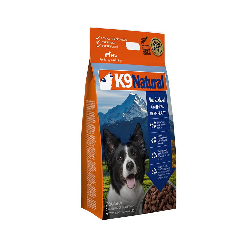 紐西蘭 K9 Natural 冷凍乾燥狗狗生食餐90% 牛肉1.8kg