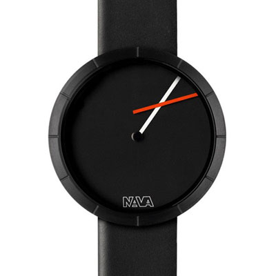 NAVA DESIGN Tempo Libero時尚腕錶-黑/36mm