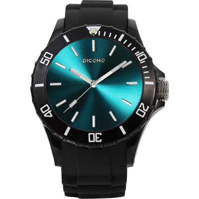 PICONO BALLOON COLOR 時尚腕錶-土耳其藍/48mm
