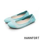 HANNFORT FLEX360果凍系網布娃娃鞋-女-淺水藍