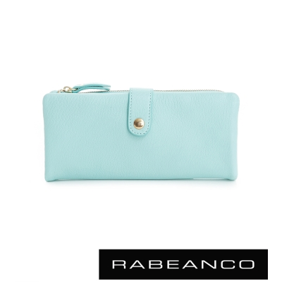 RABEANCO 迷時尚系列多格層拉鍊長夾 - 蒂芬妮藍