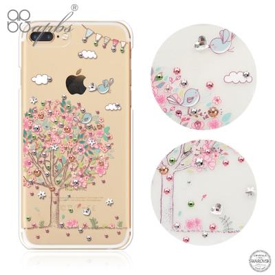 apbs iPhone8/7 Plus 5.5吋施華洛世奇彩鑽手機殼-相愛