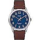 TIMEX Easy Reader 40週年紀念款跳色手錶-藍x咖啡色
