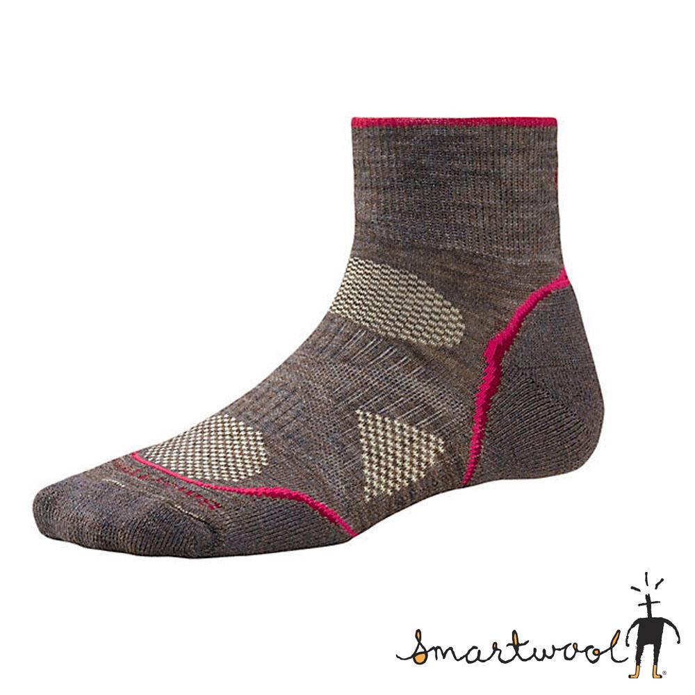 【美國 SmartWool】美國製造 美麗諾羊毛 短筒薄羊毛襪(2入)_卡其