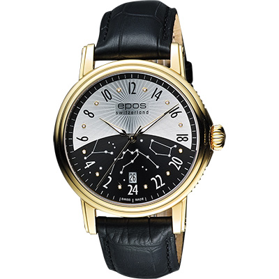 epos Emotion 情感系列機械腕錶-金框x黑/42mm