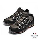 TRAVEL FOX(男) 山高氣高 歐洲進口耐冷熱防滑戶外登山鞋-能量黑