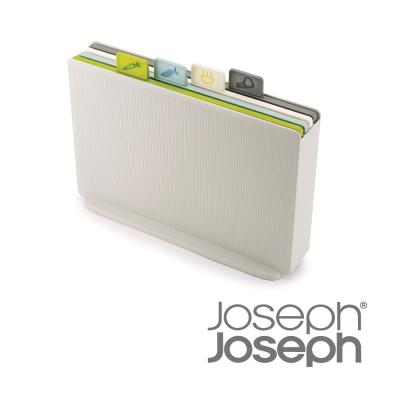 Joseph Joseph 檔案夾止滑砧板組-雙面附凹槽(自然色)